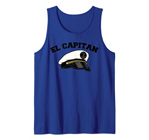 El Capitan funny Anchor Boat Captain Tank Top