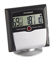 TFA Dostmann Comfort Control digital thermo-hygrometer, 30.5011, with mold alarm, room climate control, monitoring of humidity, small and handy