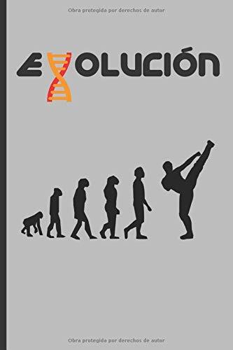 EVOLUCIÓN: CUADERNO 120 Pgs. REGALO ORIGINAL. DIARIO DE ARTES MARCIALES, CUADERNO DE NOTAS, APUNTES O AGENDA.