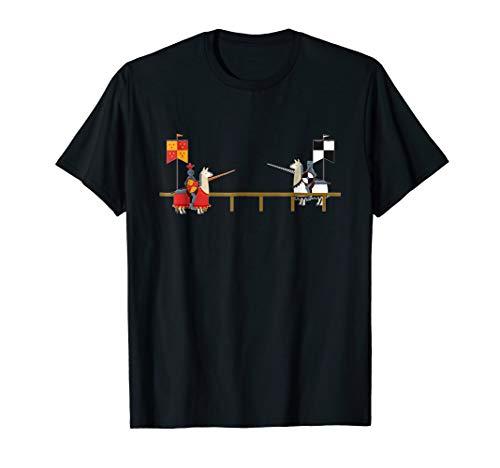 Llama Jousting T-Shirt - Funny Medieval Knight Lance Tee