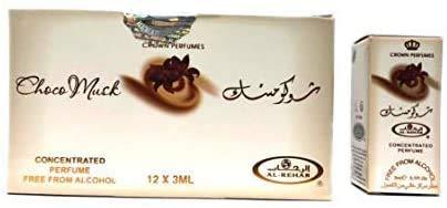 Pack de 12 almizcle Perfume al Rehab Choco Musk 3 ml 100% aceite