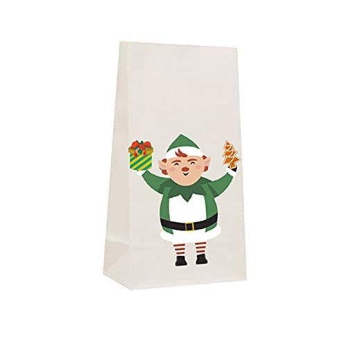 BBQQ DIY - Pegatinas navideñas para niños, bolsa de regalo, hecha a mano, decoración de Navidad, decoración de árbol de Navidad, decoración de la casa, decoración para la familia