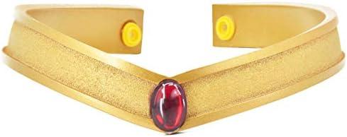 DAZCOS Gold Cosplay Tiara Queen Headwear Props Resin Hino Rei product image