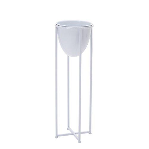 Stand de fleur de fer nordique créatif étage unique balcon extérieur plancher fleuriste minimaliste stand 80 cm / 100 cm (Couleur : Blanc, taille : 32 * 32 * 100cm)