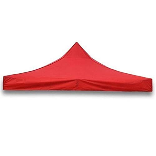 QFWN Outdoor 3x3m Square Gazebo Canopy Tent Shelter Awning Garden Patio Red (Color : Red)
