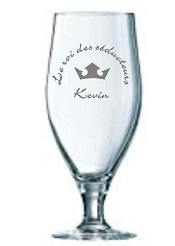 ARCOROC Gravure sur Verre à bière Cervoise 32 Cl personnalisé avec textes et Logos (600 Logos au Choix)