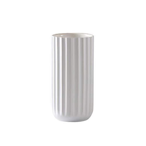 Handgemachtes Vase, 18 cm Gold Vase Keramik Vasen Blumenvase Deko, für Home, Wohnzimmer, Garten, Hotel, Tischdekoration (Weiß)