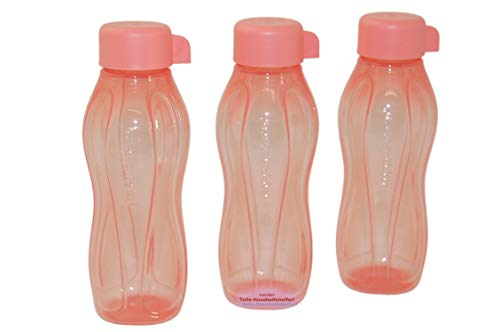 Tupperware EcoEasy - Juego de 3 botellas de agua para zumo (310 ml), color rosa
