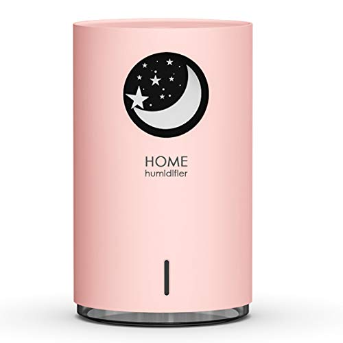 Luftbefeuchter Diffuser, Uong Kreativer 700 ml USB Ultra Leise Raumluftbefeuchter Lufterfrischer Auto Aus mit Buntem Nachtlicht für Büro, Zuhause, Luftbefeuchtung (Sternenhimmel)