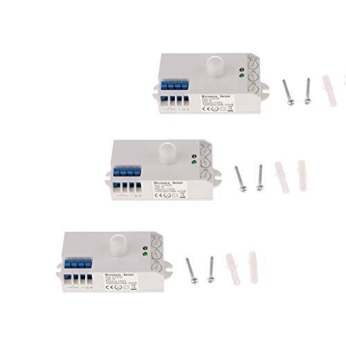 3pcs/ Set DC 12-24V Mikrowelle Sensor Lichtschalter Bewegungsmelder für Lampe Ventilator