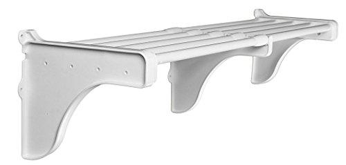 EZ Shelf - DIY Expandable Shelf NO Hanging Rod 215 - 3225 MOUNTS to Back Wall with 2 End Brackets White
