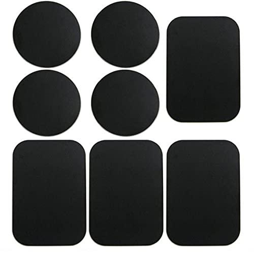 EElabper 8 Paquete Placas de Metal Pegatina Placas de Montaje en automóvil Pegatina Reemplace para el Soporte del teléfono del imán del Montaje del Coche magnético