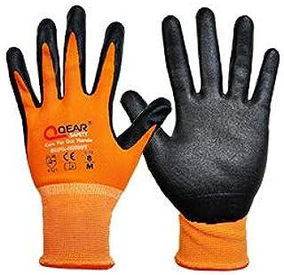 2 pares por paquete de guantes de trabajo de nitrilo, M,
