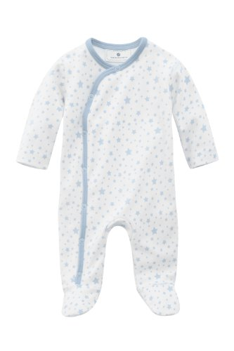 Bellybutton Kids Baby - Jungen Strampler Bellybutton Kids Schlafstrampler mit Sternen, 10962-40248, Gr. 80, Blau (stars light blue)