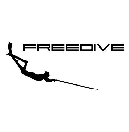 Autoaufkleber 17.8 CM * 7.2 CM Speerfischen Aufkleber Neoprenanzug Pneumatische Harpune Freediving Schnorchel Auto Aufkleber Und Abziehbilder 2 Stk