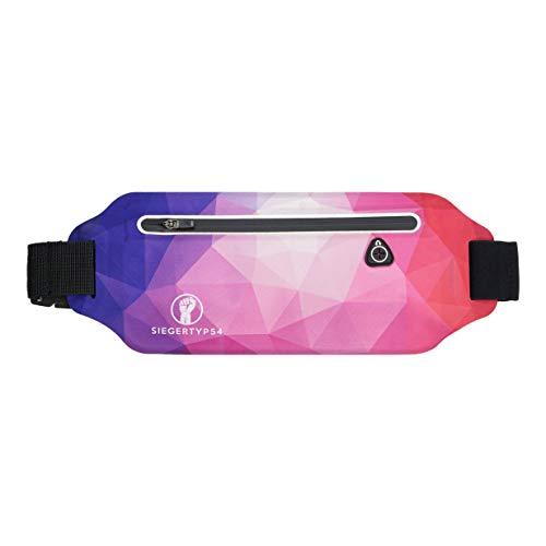 Siegertyp54 Der Laufgürtel/Lauftasche für Frauen - Sei besonders und farbenfroh - Leicht, wasserdicht & groß - Für Smartphones bis 7 Zoll passend