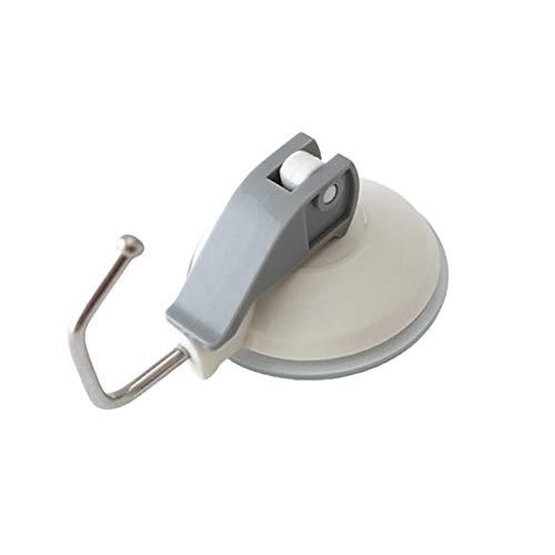 Yue668 - Ganchos de Ventosa Resistentes para baño o Cocina, Soporte de vacío con Palanca de presión, Blanco, Medium