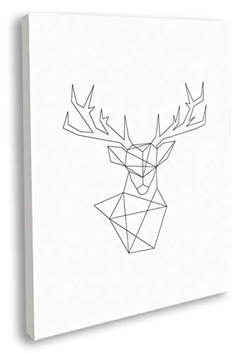 Artesta Cuadro en Lienzo Minimal Deer (50x70)
