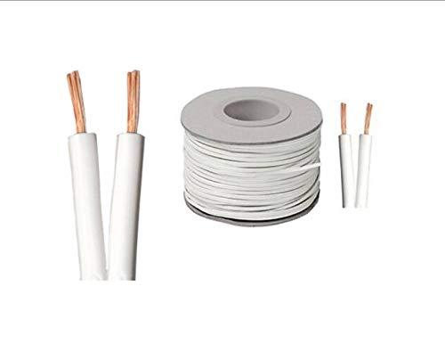 Innovo - Cable de Altavoz (1 m, 42 Hilos, 14 amperios), Color Blanco