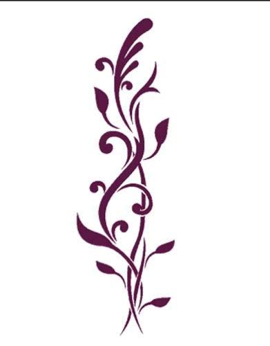 Dayka Trade Plantilla de Stencil con Motivo de Enredadera Vegetal, Multicolor, Taglia unica