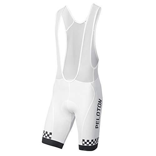 prolog cycling wear Herren Radhose mit Polster und Träger weiß, eng geschnitten, XS-XXXL, auch passend als Radtrikot Set erhältlich