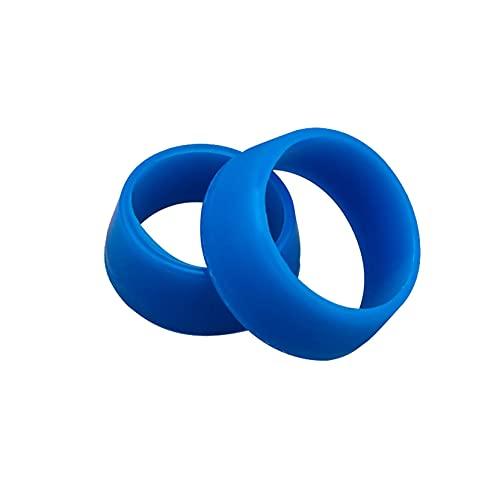 JKKJ Tija de asiento de bicicleta suave anillo de silicona cubierta de polvo, tija de sillín de bicicleta de montaña protección de la manga a prueba de agua y barro, 2 unidades/paquete (azul, L)