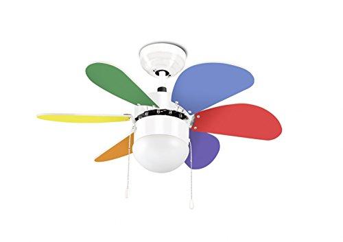 LEDS-C4 Boracay - Ventilador de techo (incluye lámpara, 76,2 cm), color blanco