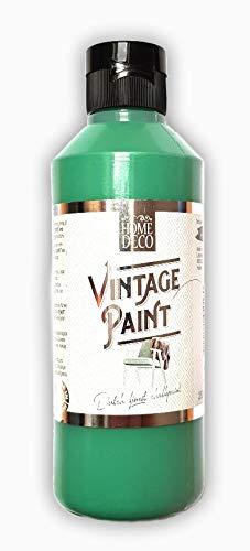 Home Deko Hobby Farbe 250ml powder grün, forest green Vintage Deco Farbe 250 ml für Holz und Möbel - pastell Farben im shabby chic Stil