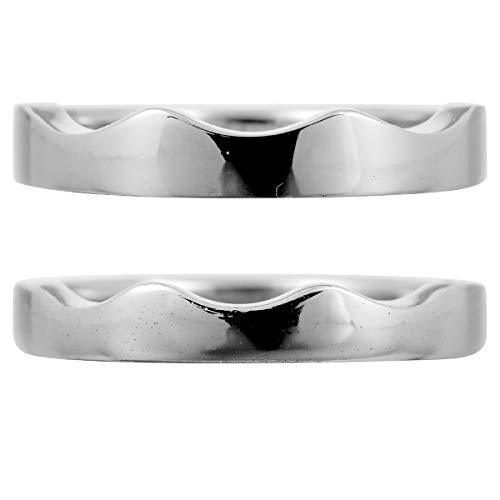 [ココカル]cococaru ペアリング 2本セット K10 ホワイトゴールド 結婚指輪 日本製 (レディースサイズ13号 メンズサイズ13号)