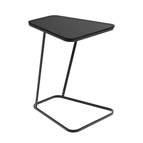 YQDSY Tabla Lateral Tabla de Café Tabla de Café Tabla de Café Table de Vidrio Templado Tabla de Extremo Cuadrado Mesas Laterales de Hierro Cuadrado Mesa de Sofá de Esquina para Sala de