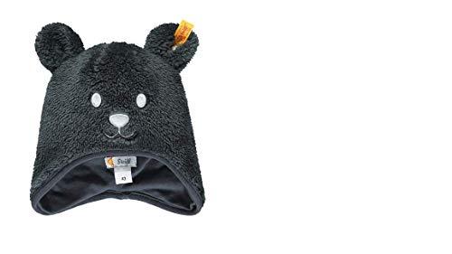 Steiff Baby Mütze Plüsch Teddy, grau mit Baumwollfutter L002021328 Gr.51