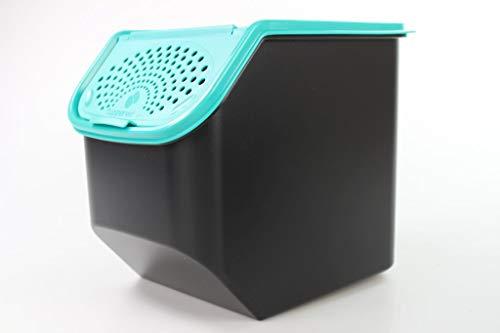 Tupperware Organizador Modular de 8,3 L para Patatas Negro Turquesa 34634