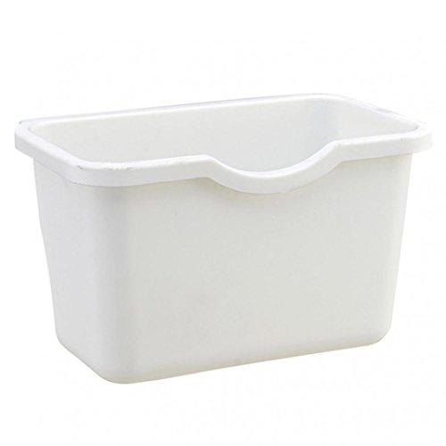 Multifuctional Plastic Kitchen Cabinet Hanging Food Waste Garbage Bin Rubbish Organizer Trash Junk Box Deskside Trash Can Wastebaskets Bathroom Storage Bowl Basket White