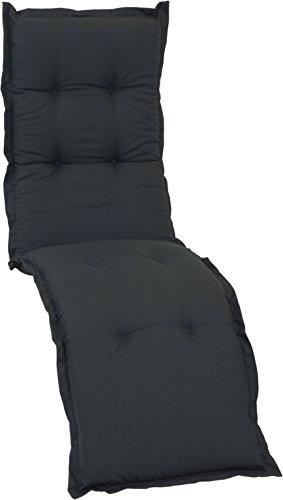Beo Anthrazit Saumauflage Kissen für Relax Gartenstuhl Premium