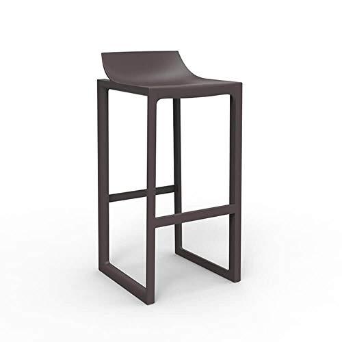 Vondom Wall Street tabouret pour l'extérieur h.assise 76 cm. bronze