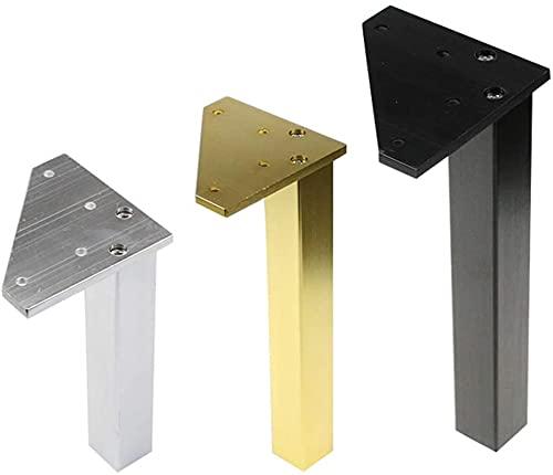 FTYYSWL 4 pies de muebles de metal se pueden ajustar gabinete cuadrado soporte pies mesa mesa de café mesa de aluminio sofá pie gabinete