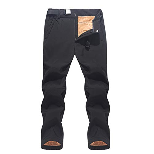 Pantalones de esquí para Hombre Pantalones de Nieve cálidos Impermeables a Prueba de Viento Pantalones de Snowboard de esquí de Invierno Black Asian M EUR S