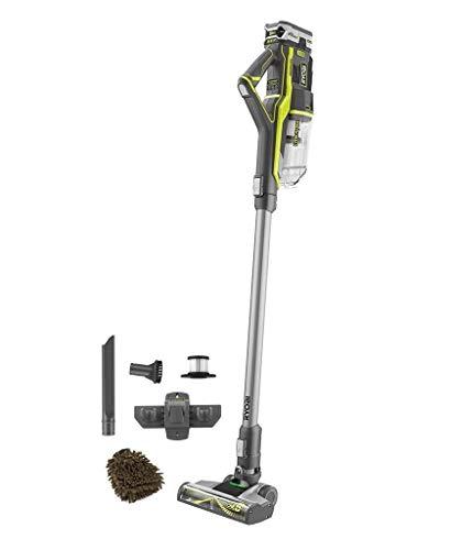 Ryobi P718k 18-Volt One+ EverCharge Stick Vacuum Cleaner, Cordless Lightweight, with Microfiber Cleaner Bundle, Complete Set
