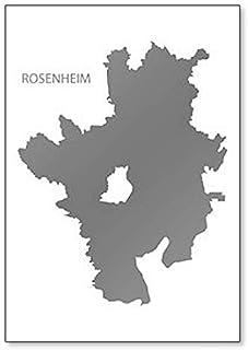 Rosenheim Landkarte Bayern Deutschland Klassischer Kühlschrankmagnet