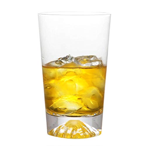 Jiandong De cristal de whisky de vidrio cóctel Monte Fuji Copa Diseño Broma de la taza del vidrio de vino Pareja Recipientes 12,0 oz / 10,2 oz (Size : 10.2oz(300ml))