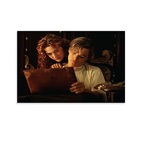 SHIJAIN Titanic Rose And Jack Poster Poster decorativo su tela da parete per soggiorno, camera da letto, 20 x 30 cm