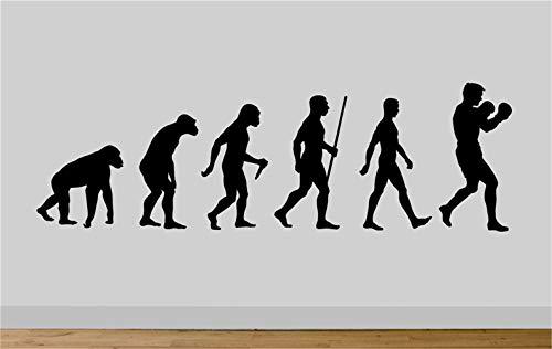 adesivo murale adesivo muro Evolution Ape To Man Boxing Evo Decal Gym Art soggiorno sala giochi...