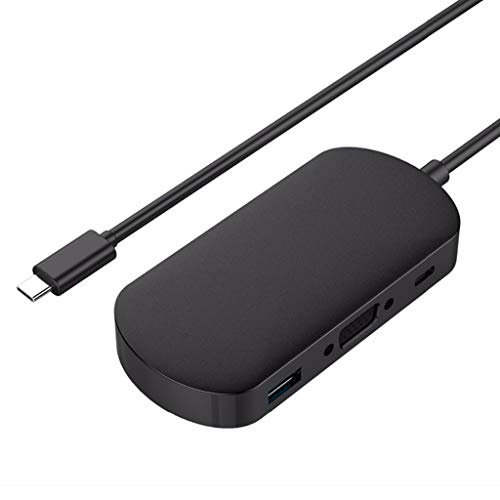 YWSZJ USB C HUB Tipo C A MULTIVO USB 3.0 Tipo C HUB Adaptador Adaptador DE PC Accesorios PC USB C Splitter (Color : Black)
