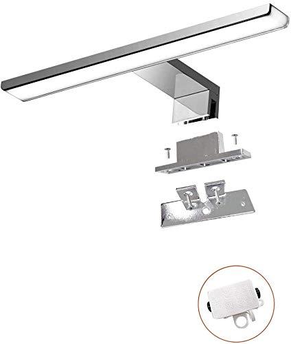 Cywer led Spiegelleuchte | Spiegellampe | Schminklicht | Klemmleuchte | Aufbauleuchte | neutralweiß | 40cm | IP44 | 8.4w | 550lm | 230V[Energieklasse A+]