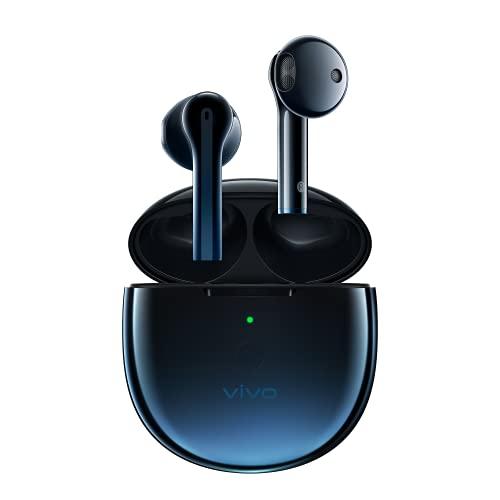 vivo TWS Neo Earbuds Auriculares Estéreo, Bluetooth 5.2 True Wireless, Baja Latencia 88ms, Función Encuentra tu TWS Neo, Auriculares de Control Táctil (Starry Blue)