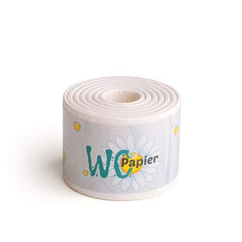 Erzi 21005 Toilettenpapier aus Holz, Kaufladenartikel für Kinder, Rollenspiele