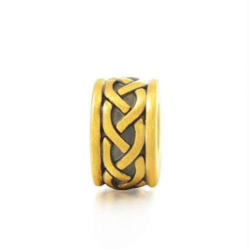 Dxlts Charms Beads 24 Karat /99.9‰ Gold DIY Schmuck Charm Anhänger Kompatibel Europa Armband & Halskette Birthday Christmas Valentine's Day Thanksgiving Geschenk, 2g,7.48in/19cm