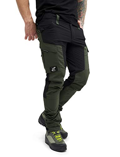 RevolutionRace Herren GPX Pants, Hose zum Wandern und für viele Outdoor-Aktivitäten, Forest Green, L