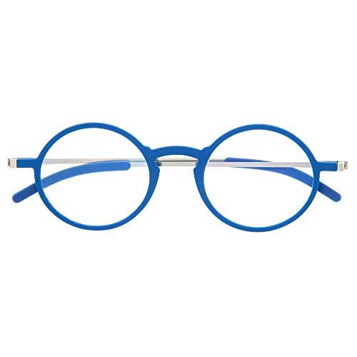 DIDINSKY Gafas de Lectura Graduadas Ultra Delgadas para Hombre y Mujer. Gafas de Presbicia muy Ligeras con Lentes con Protección Luz Azul. Klein +1.0 - MACBA ROUND