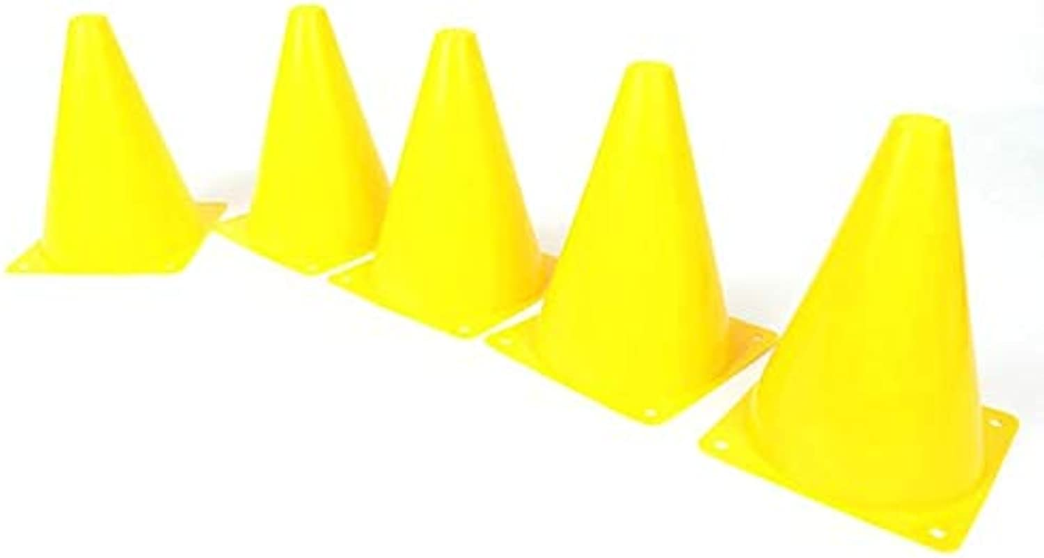 5pcs18cm Football Training Sport Safety Equipment Agility Training Mark Skating Mark Cone Freestyle Obstacle Skating Pile Cup   White, United Kingdom